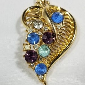 Vintage custom jewelry brooches pin rhinestones